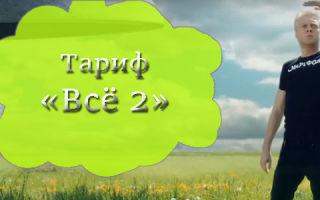 Тарифный план «Все 2» для клиентов Билайн, звонящих по домашнему региону