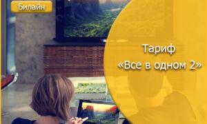 Мобильная связь, домашний интернет и ТВ с Билайн тарифом «Все в одном 2»