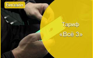 Тариф Beeline «Все 3» — общайся по телефону и интернету