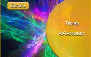 Билайн тариф»Анлим»: безлимитный интернет по всей России